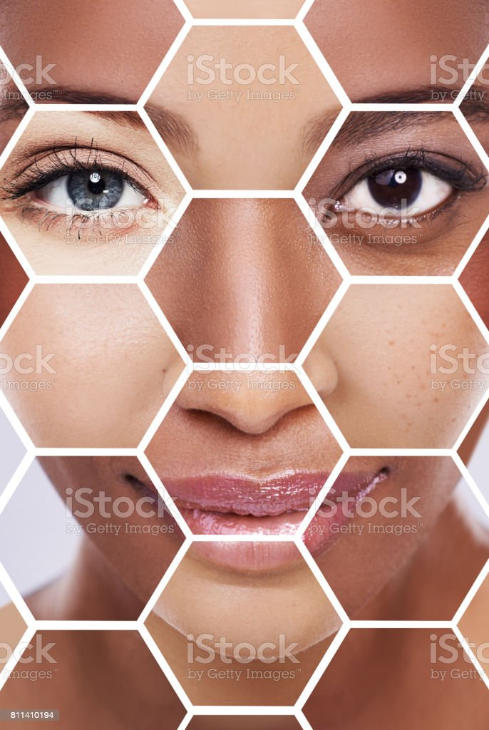 Down to the building blocks of skincare stock photo