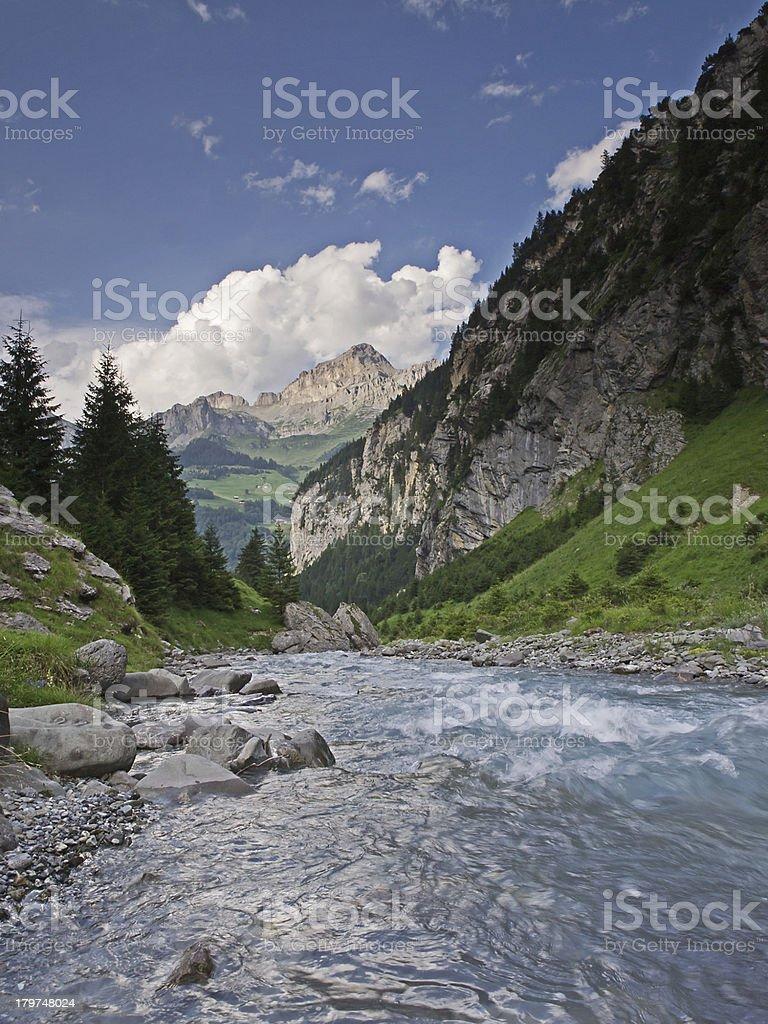 Down toward the valley royalty-free stock photo