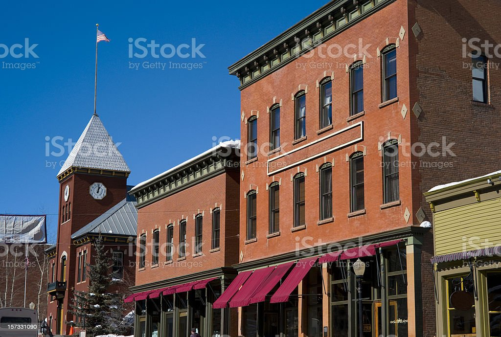 Down town Telluride Colorado stock photo