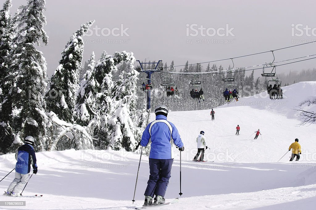 Downhill Skiing royalty-free stock photo
