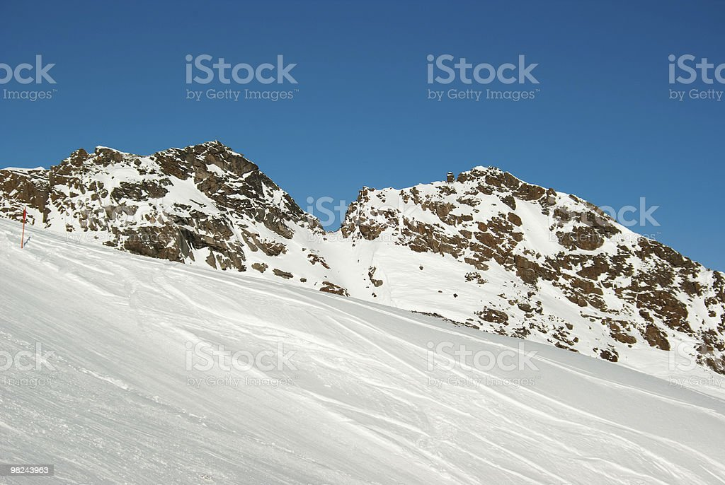 Ski piste royalty-free stock photo