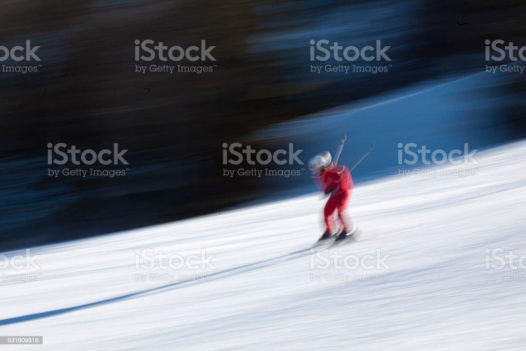 downhill slalom stock photo