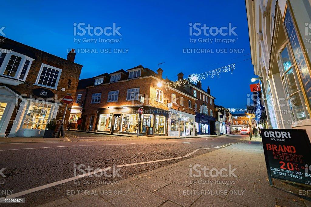 Downing Street in Farnham, Surrey stock photo