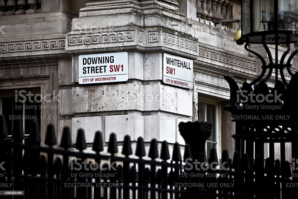 Downing Street - Foto de stock de 10 Downing Street libre de derechos