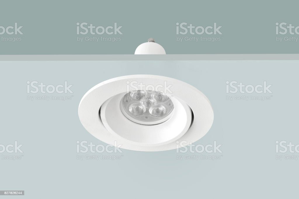 Downlight or Ceiling light stock photo