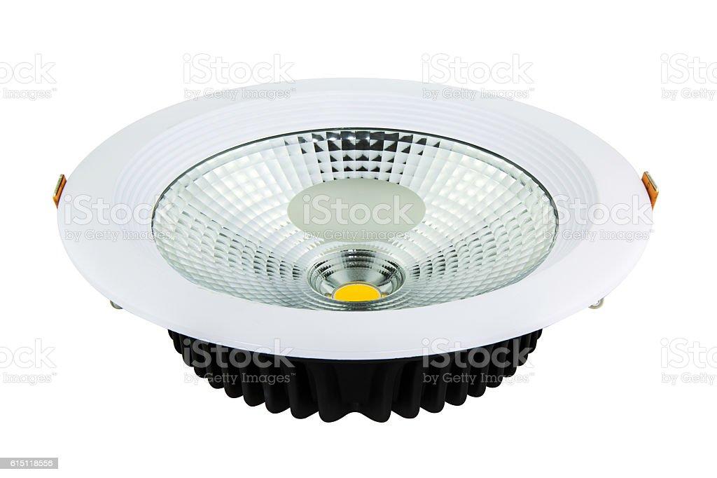 LED downlight stock photo