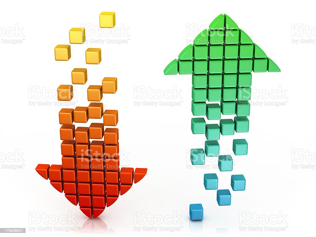Download and Upload - Arrow Icons royalty-free stock photo