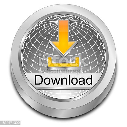 istock Download button - 3D illustration 894471300