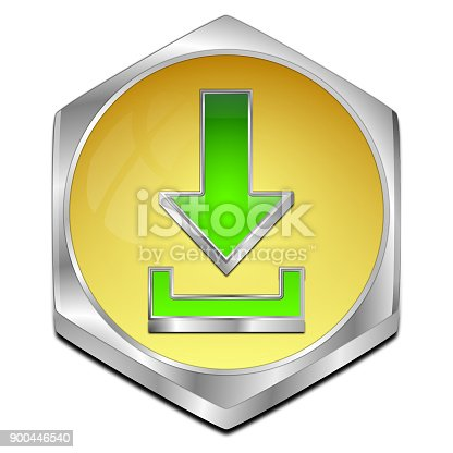 istock Download button - 3D illustration 900446540