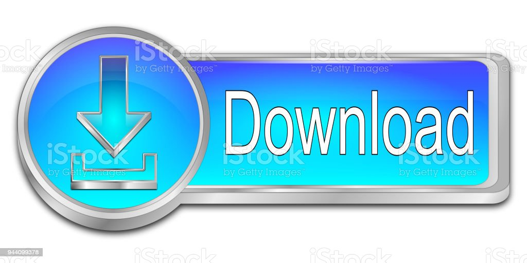 Download button - 3D illustration stock photo