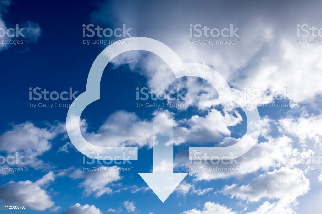 Download data from the cloud stock photo