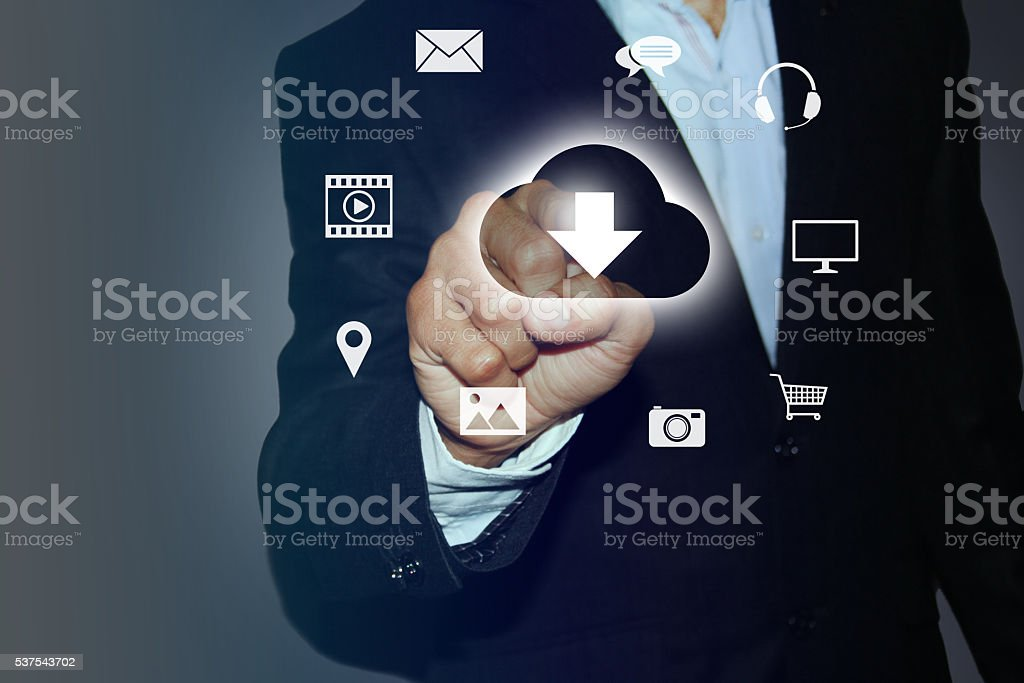 Download Documents from Cloud stock photo