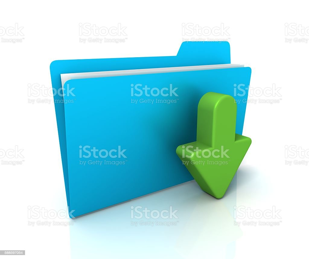 Download file or folder stock photo