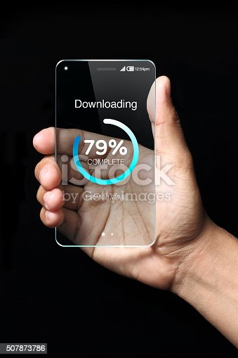istock Download icon on smartphone 507873786