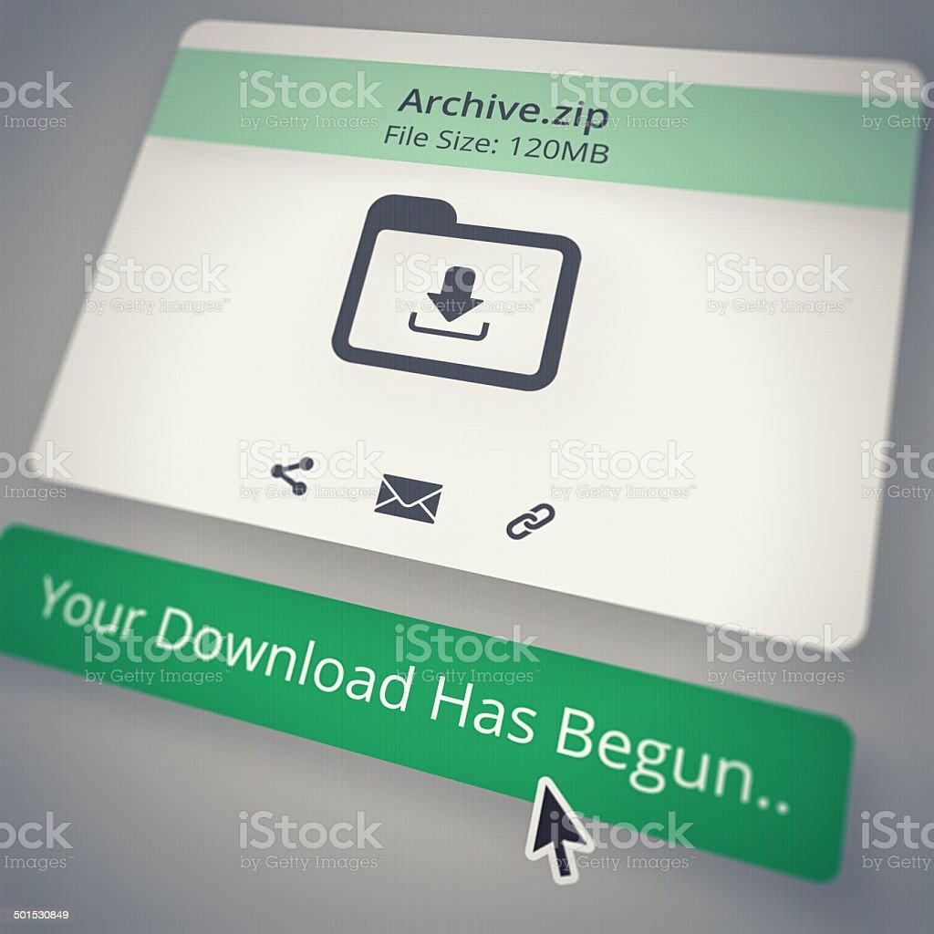 Download in progress stock photo