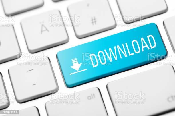 Downloadkey Auf Tastatur Stockfoto und mehr Bilder von Accessoires