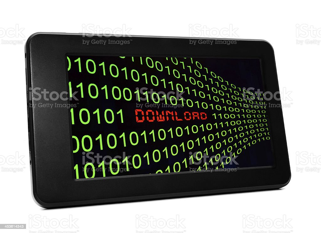 Download on Pc tablet royalty-free stock photo