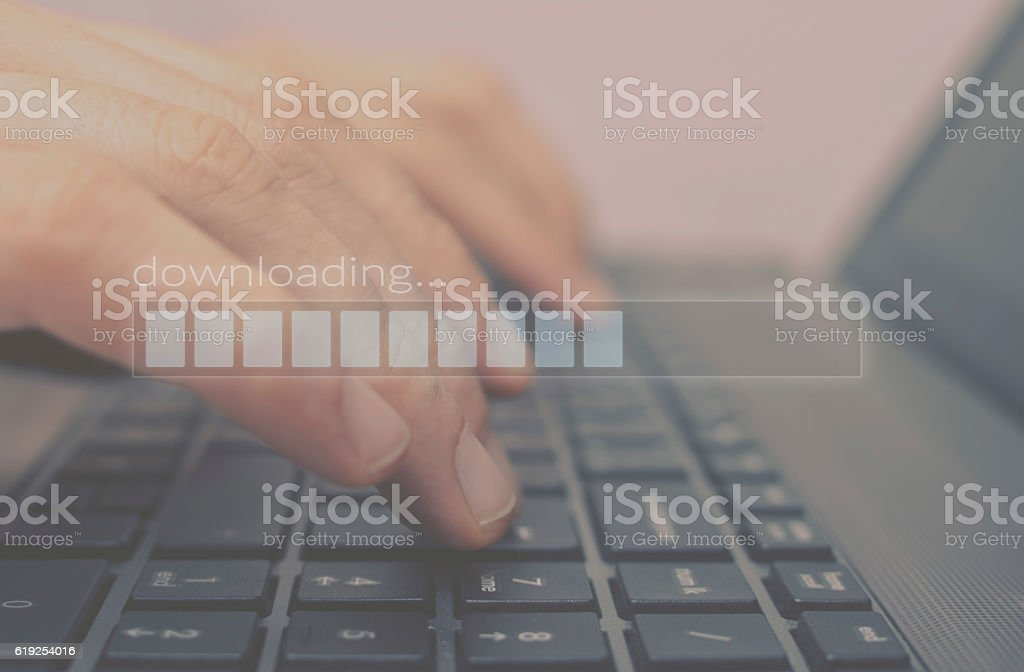 Download progress bar. stock photo