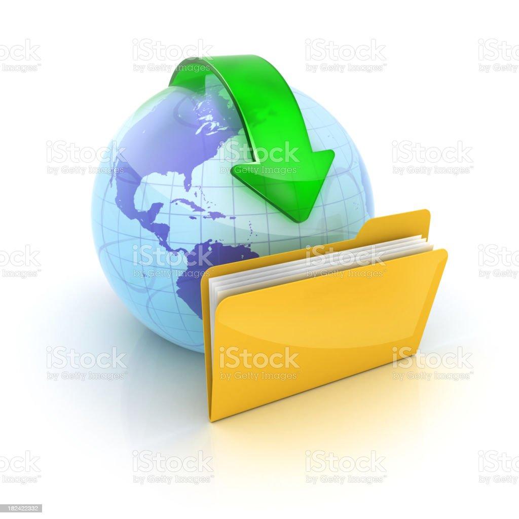 download sharing files royalty-free stock photo