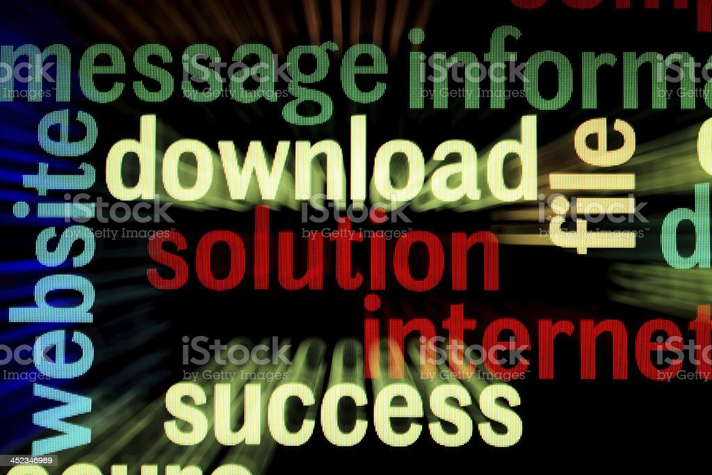 Download solution success royalty-free stock photo