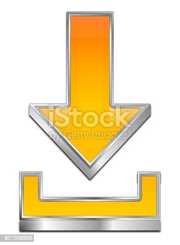 istock Download Symbol - 3D illustration 827308936