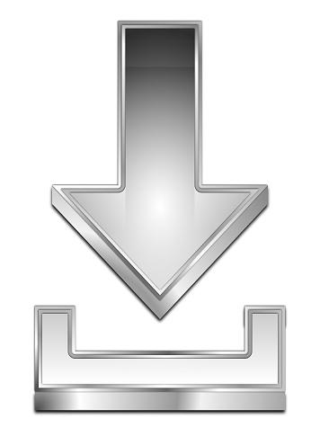 istock Download Symbol - 3D illustration 835837438