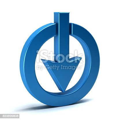 istock 3D Download Symbol. Three Dimensional Rendering 833899808