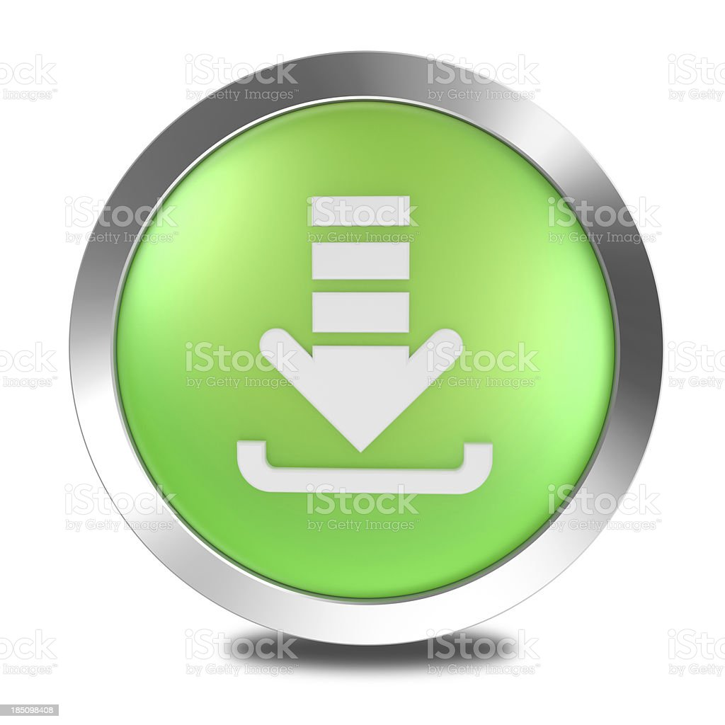Downloading Button royalty-free stock photo