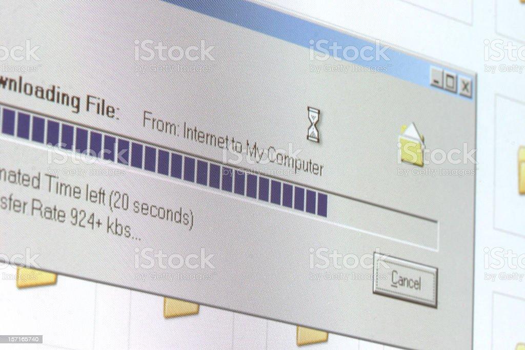 Downloading stock photo