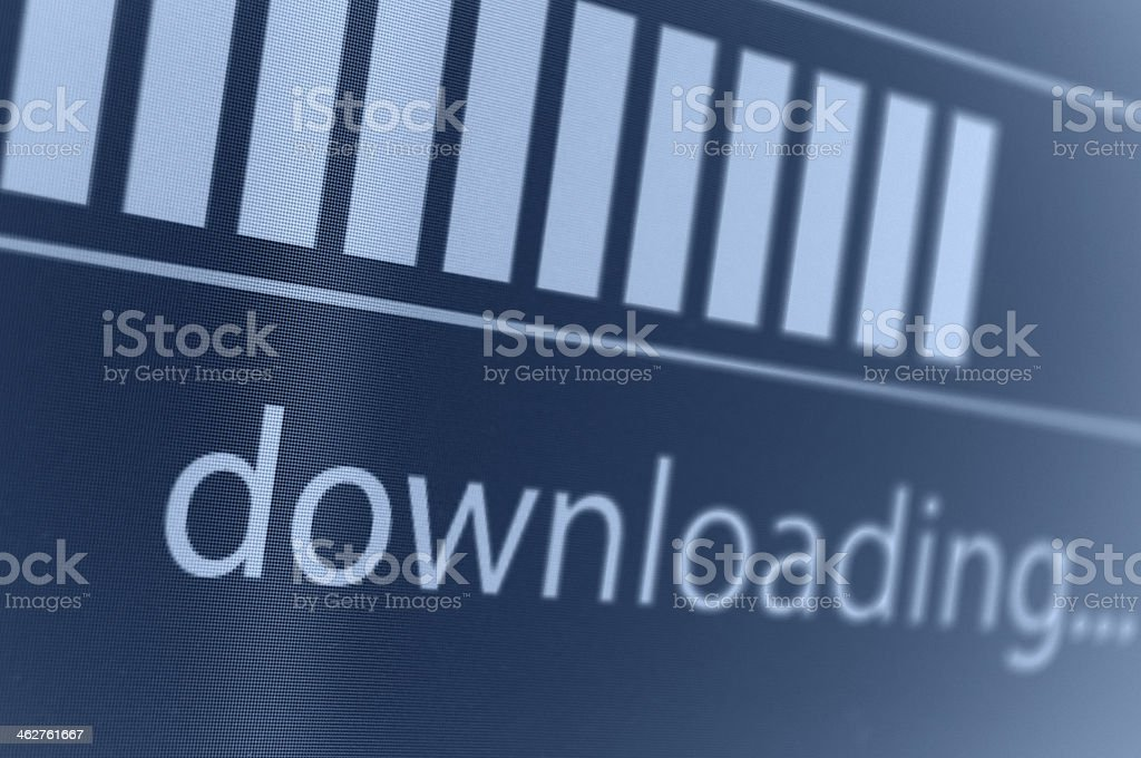 Downloading stock photo