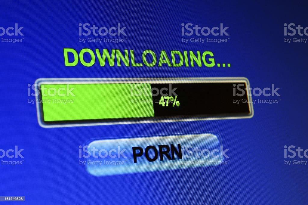 Downloading porn royalty-free stock photo