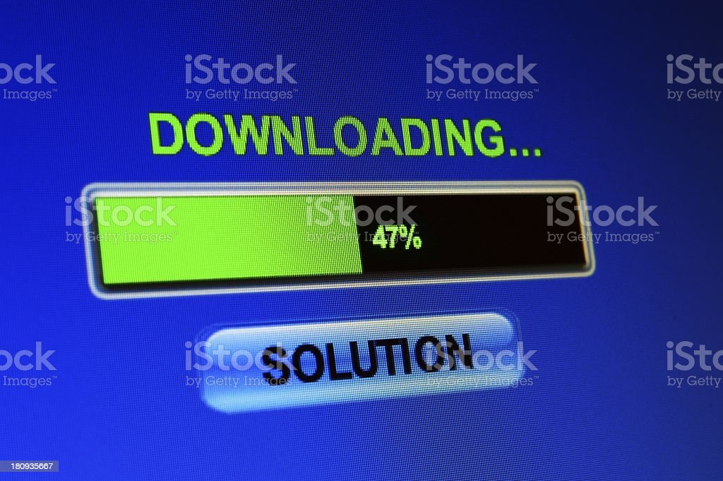 Downloading solution royalty-free stock photo