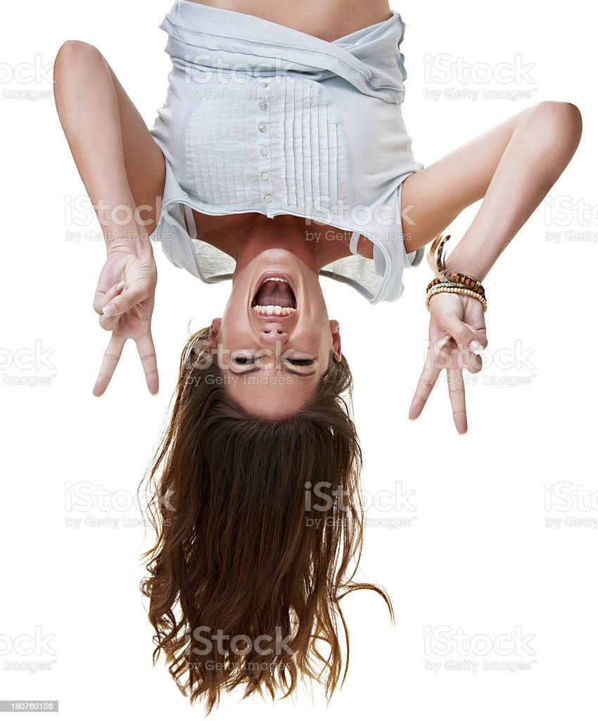 Downside up! stock photo