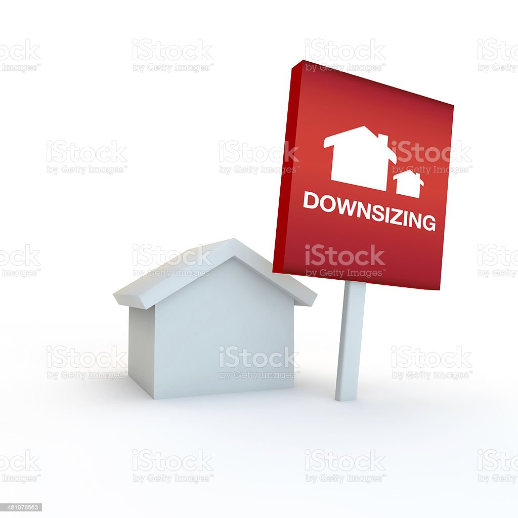 downsizing home to a smaller one stock photo