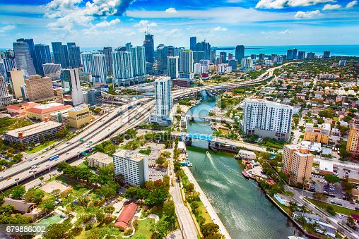 istock Downtown Aerial of Miami Florida 679886002
