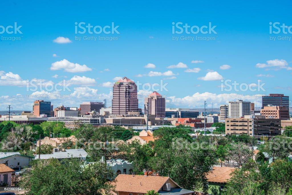 Downtown Albuquerque Skyline stock photo