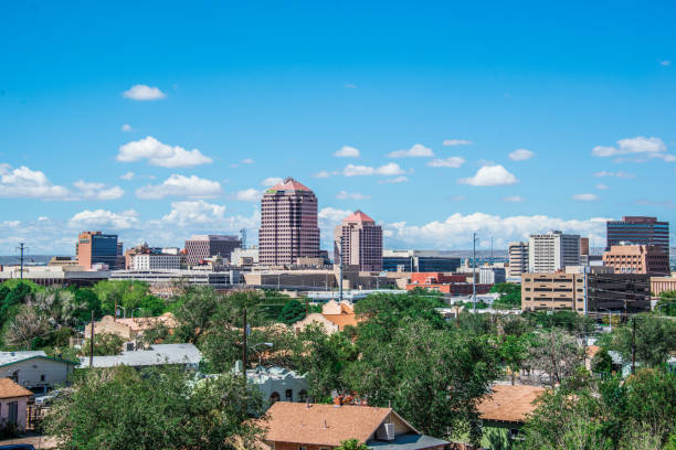 Downtown Albuquerque Skyline stock photo