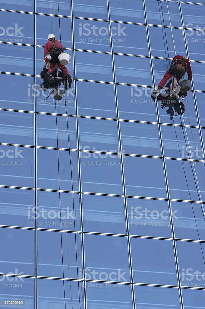 Downtown alpinists royalty-free stock photo