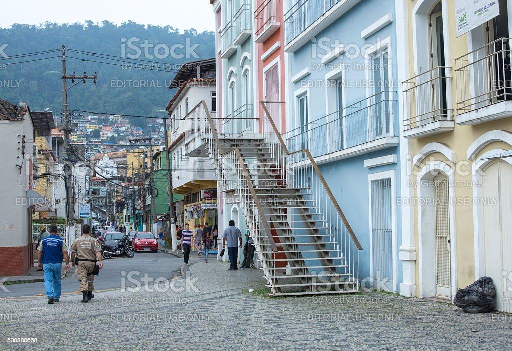 Downtown Angra dos Reis, Brazil stock photo