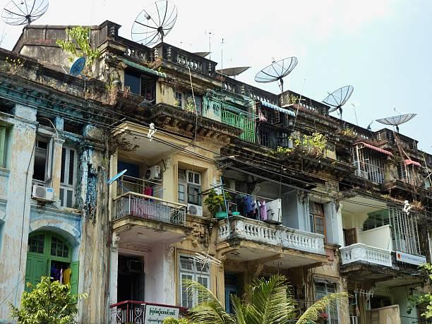 centrum apartamenty, yangon, myanmar - burma home do zdjęcia i obrazy z banku zdjęć