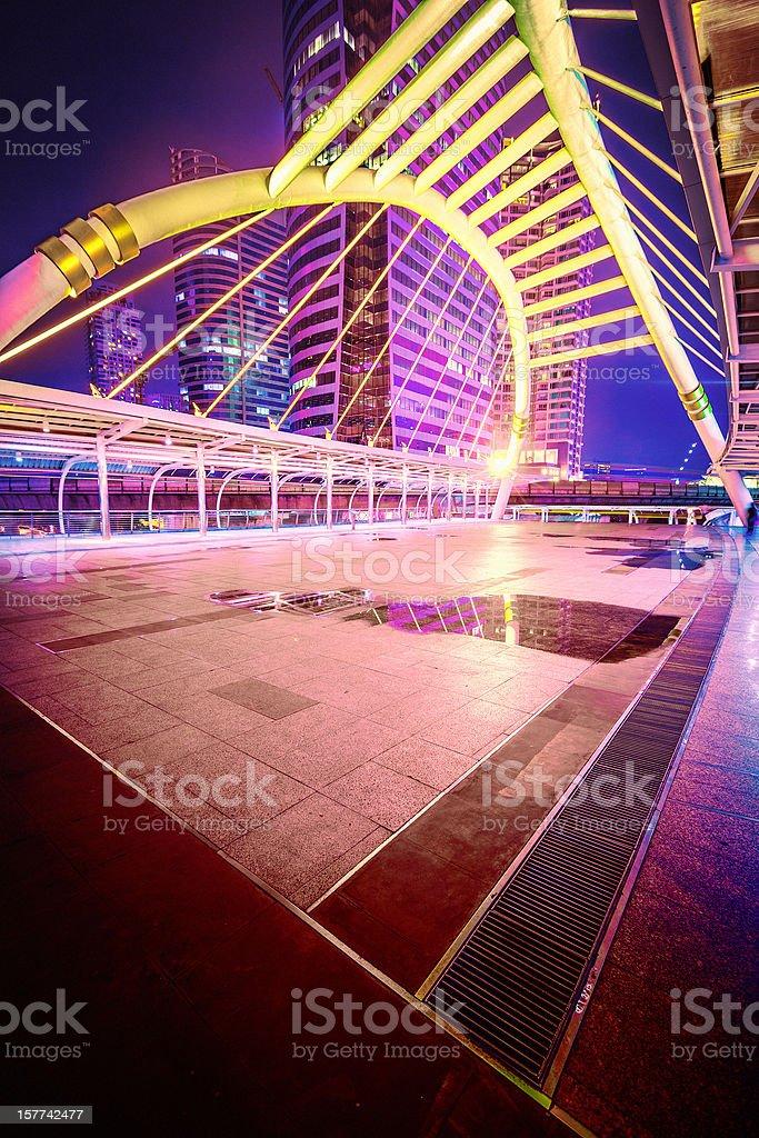 Downtown Architecture, Futuristic Station, Bangkok royalty-free stock photo
