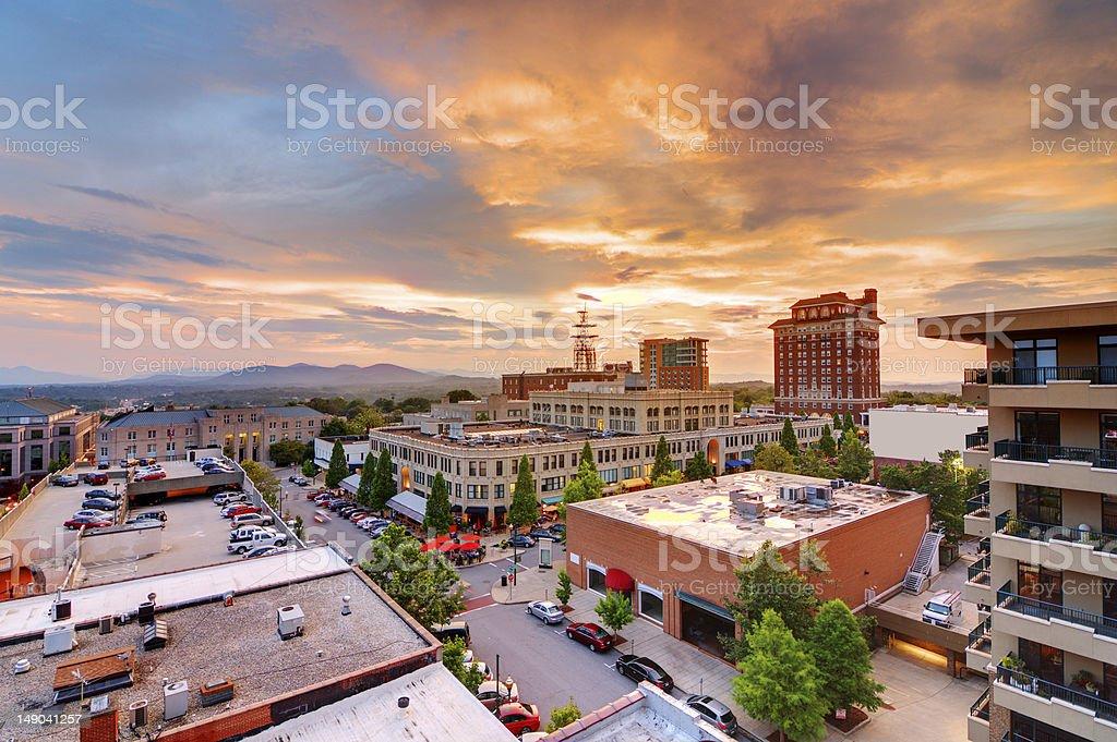 Downtown Asheville stock photo