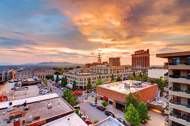 El centro de Asheville - foto de stock