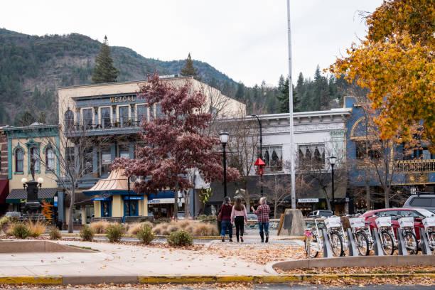 Downtown Ashland Oregon stock photo