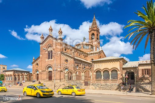 istock Downtown Asmara Eritrea Church of Our Lady of the Rosary 1297865908