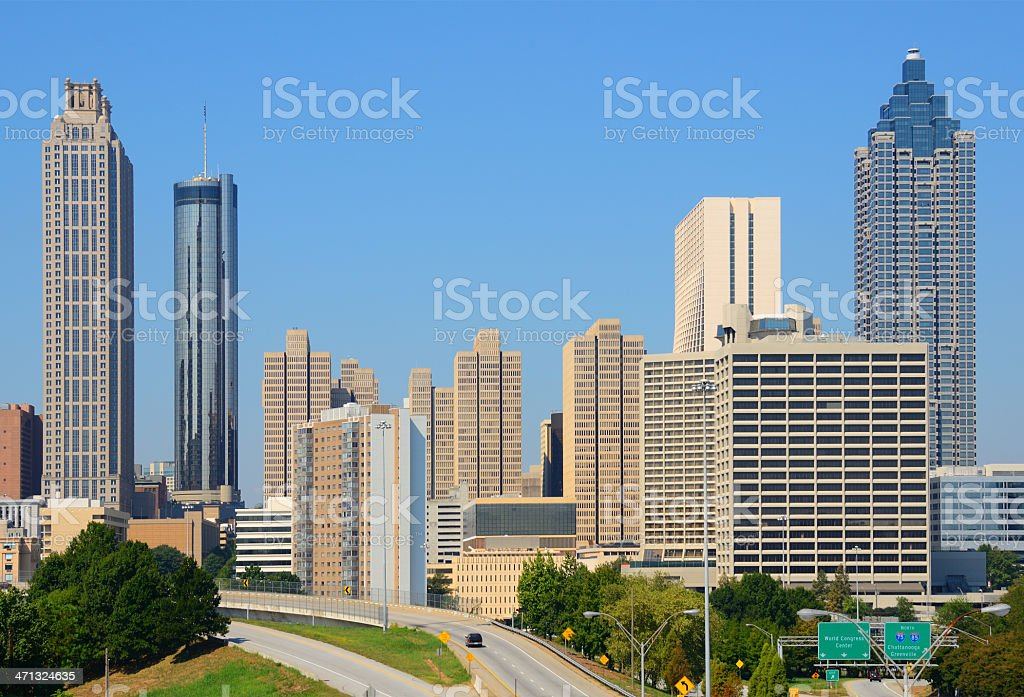 Downtown Atlanta Cityscape stock photo