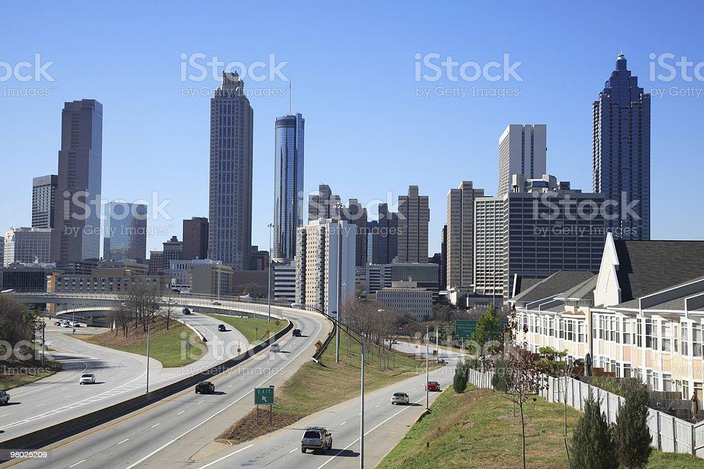 Downtown Atlanta, GA royalty-free stock photo