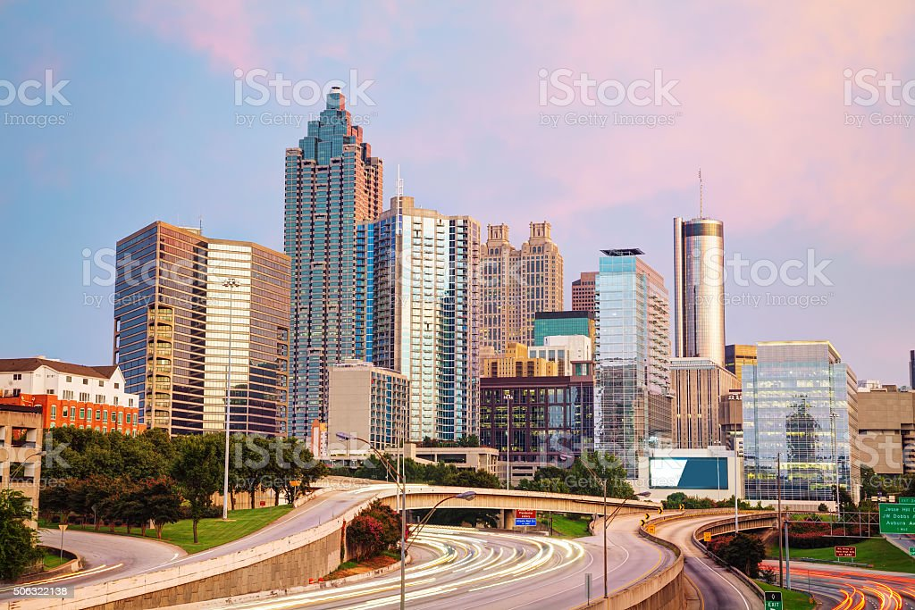 Downtown Atlanta, Georgia stock photo