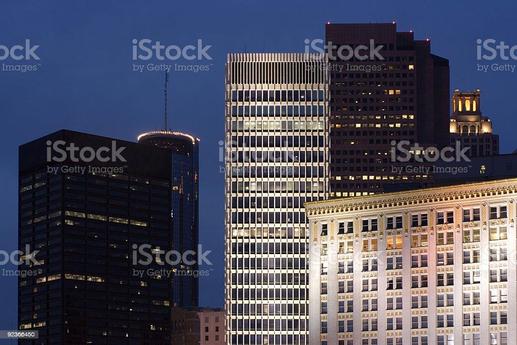 Downtown Atlanta, Georgia royalty-free stock photo