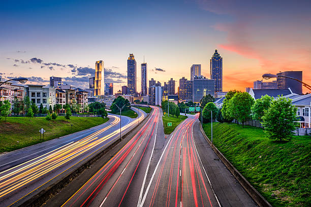 Downtown Atlanta Georgia Skyline stock photo